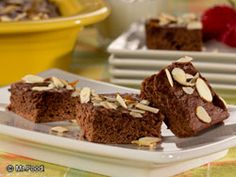 Satisfy your sweet tooth without feeling guilty by baking up our Almond Fudge Brownies. These rich, chocolate brownies are low in fat, but extra high in decadent, yummy taste. Make enough to share with everyone, and watch their mouth's drop when you tell 'em it's a healthier choice.