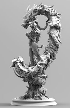 Death and life, order and law,growth. zbrush sculpting,and render with keyshot, hope u like it Aztecas Art, Dragons, Stylo 3d, Arte Obscura, Dragon Artwork, Modelos 3d, Creature Concept, Art Model, Creature Design