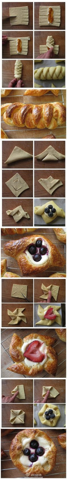 Pastry Folding Hacks Community Post: 40 Creative Food Hacks That Will Change The Way You Cook Fun Desserts, Dessert Recipes, Pastry Recipes, Awesome Desserts, Gourmet Desserts, Fun Recipes, Plated Desserts, Delicious Recipes, Recipe Ideas