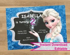 Your place to buy and sell all things handmade Shopkins Invitations, Birthday Invitations, Ariel, Elsa, Diy, Disney Princess, Unique Jewelry, Handmade Gifts, Kid Craft Gifts