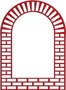 brick window frame