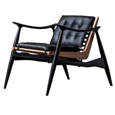 Atra Chair by Luteca - Handcrafted in Wood and Leather | From a unique collection of antique and modern chairs at https://www.1stdibs.com/furniture/seating/chairs/