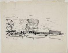 Louis I. Kahn. City Tower, project, Philadelphia, Pennsylvania, Perspective. 1952-53 | MoMA