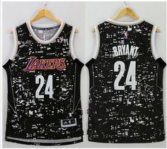 25a793753 Los Angeles Lakers 24 Kobe Bryant Black City Light