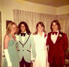 Early 1970's prom fashions.