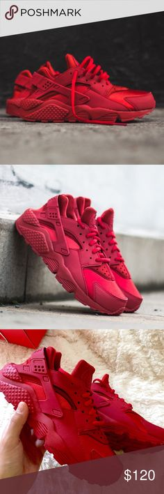 ‼️PRICE DROP‼️NWT Nike Red Air Huarache Run NWT Nike Red Air Huarache Run size 6. Brand new in box with no lid. Super comfortable and cute! Nike Shoes Athletic Shoes