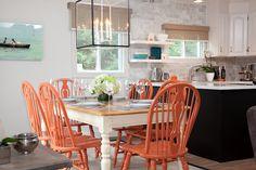 Design Maze: Week 6: Summer Home with Samantha Pynn  carrara marble tiles were installed in a brick pattern