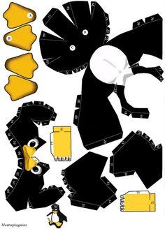 Pinguin paper cut-out