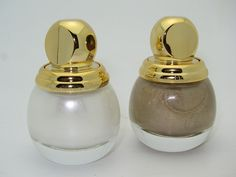 Dior Holiday 2012: Diorific nail polish in Lady (white) and Diorling (golden sand)