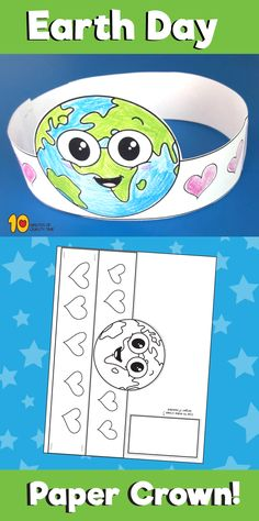 - A Kinderteacher Life Related Printables Earth Day – Connect the Dots Earth in Heart Optical Illusion Earth Day Coloring Page – We Love Earth Earth Day puzzles Earth Day Activities, Spring Activities, Preschool Activities, Earth Day Projects, Earth Day Crafts, Preschool Crafts, Crafts For Kids, Earth Day Coloring Pages, Crown For Kids
