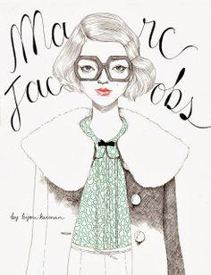 #fashion #illustration by Bijou Karman