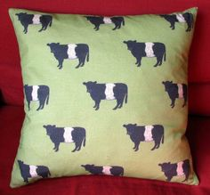 Belted Galloway Cow Cushion