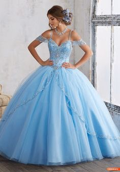 Off The Shoulder Tulle Sweet 16 Dresses Ball Gowns Wedding Dress quinceanera dresses · Starry Girl Dress · Online Store Powered by Storenvy Cinderella Quinceanera Themes, Pretty Quinceanera Dresses, Cute Prom Dresses, Cinderella Dresses, Cinderella Sweet 16, Dress Prom, Xv Dresses, Quince Dresses, Ball Dresses