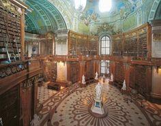 The Austrian National Library in Vienna, Austria
