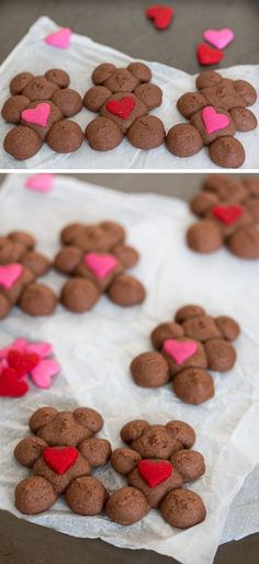 Chocolate Raspberry Spritz Teddy Bears   Easy Valentines Day Baking for Him
