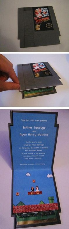 Gamer Wedding Card