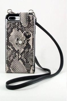 #Funda #Flip #cordon #colgar  #Anticaidas  #gris #blanca #piel  #print #serpiente #Finger360 #moda #coleccion #diseño #smartphone