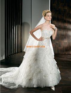 Okouzlijící & dramatický Bez rukávů Přírodní Svatební šaty 2013