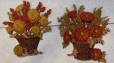"""<p>SET OF 2 </p><p>1977 VINTAGE HOMCO HOME INTERIOR BURWOOD PRODUCTS </p><p>ORANGE, YELLOW AND BROWN FLOWER BASKET </p><p>WALL PLAQUES</p><p>MEASURES APPROXIMATELY 10"""" TALL AND 8.5"""" WIDE. </p><p>IN GREAT CONDITION</p> Yellow And Brown, Orange Yellow, Home Interiors And Gifts, Baskets On Wall, Flower Basket, Interior Walls, Wall Plaques, Ebay, Flowers"""
