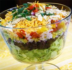 Layered Southwest Summer Salad
