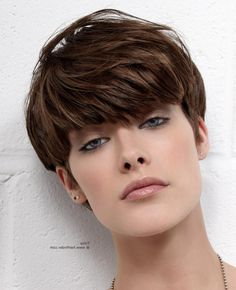 modern short mushroom haircut very short haircut with long bangs...