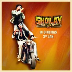 Arguably India's greatest film, #Sholay is now coming to cinemas in a totally new dimension. Catch the cult action movie in 3D from Jan 3rd onwards.