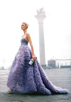 Luisa Beccaria Couture via LANE Wedding Industry News Bridal Gowns, Wedding Gowns, Jeanne Lanvin, Luisa Beccaria, Purple Wedding, Beautiful Gowns, Dress Me Up, Dream Dress, Queen