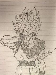 Dessin : Son Gokū (Kakarotto) vêtement déchirer Goku Drawing, Manga Drawing, Anime Drawings Sketches, Cool Drawings, Geniale Tattoos, Dragon Ball Gt, Fan Art, Twitter, Drafting Pencil