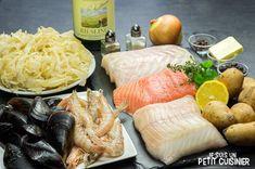 Choucroute de la mer (ingrédients) Asian Fish Recipes, Recipes With Fish Sauce, Whole30 Fish Recipes, White Fish Recipes, Easy Fish Recipes, Walleye Fish Recipes, Swordfish Recipes, Swai Fish, Pollock Fish Recipes