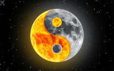 gorgeous image of the sun and the moon (ying yang) Yen Yang, Ying Y Yang, Ying Yang Symbol, Arte Yin Yang, Yin Yang Wolf, Foto Logo, Zealand Tattoo, Naruto Y Sasuke, Teen Wolf Quotes