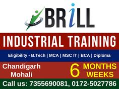 Six Month/week #Industrialtraining courses are getting popular with the advancements in the technology and exceeding expectations of businesses. Brill Infosystems provides #industrialtraining for all those students who want to learn #software languages and methodology of IT industry.