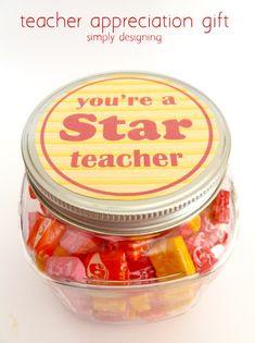 You're a STAR Teacher {Teacher Appreciation Gift Idea with FREE Printable}