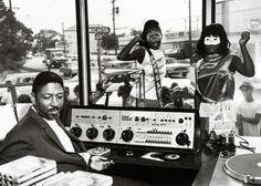 KCOH Radio disc jockey Skipper Lee Frazier and go-go girls, Houston, 1965