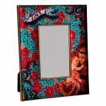 Porta Retrato Santo Antônio Colorido em Madeira - 24x19 cm