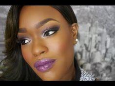 Purple Haze | Purple Smoky Eye Purple Lipstick  by Destiny Godley