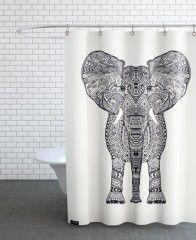 Aztec Elephant-Duschvorhang