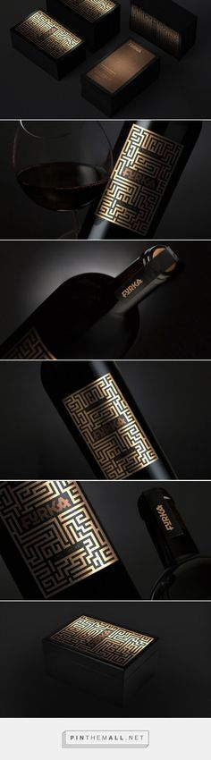 Furka Red Dry #Wine #packaging designed by Corn Studio - http://www.packagingoftheworld.com/2015/04/furka-red-dry-wine.html