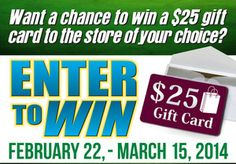 Enter to Win a $25 Gift Card