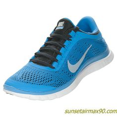 Nike Free 30 V5 Womens Distance Blue Black White 580392 404
