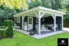 pavillion garten This tastefully decorated garden room with cooking shower and toilet is amp; # the perfec Backyard Pavilion, Backyard Gazebo, Backyard Sheds, Outdoor Sheds, Backyard Retreat, Backyard Landscaping, Bar Shed, Outdoor Living, Outdoor Decor
