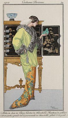 Costumes Parisiens - 1912 - Illustration by Roger Broders - Journal des Dames et des Modes - @~ Watsonette