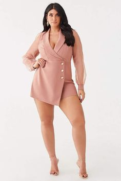 Forever 21 Plus Size Surplice Skort Romper Curvy Plus Size, Plus Size Girls, Plus Size Model, Forever 21 Plus, Shop Forever, Skort, Latest Trends, Curves, 21st