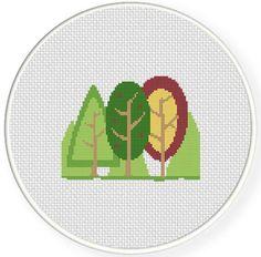 Forest Cross Stitch Chart