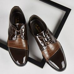 Mens Pointed Toe Thick Bottom Splicing Design Tassle Decorated Slip On Formal Shoes Business Oxford