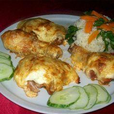 Érdekel a receptje? Kattints a képre! Croatian Recipes, Hungarian Recipes, Meat Recipes, Chicken Recipes, Cooking Challenge, Green Eggs And Ham, Yummy Food, Tasty, Main Meals