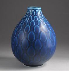 Aluminia - Marselis - smuk blå vase