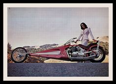 Custom Motorcycle, 1976 by Cosmo Lutz