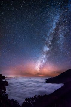 renamonkalou: Milky way above the clouds ocean | Q-lieb In