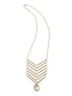 Tinley Road Chevron Ladder Faceted Drop Pendant Necklace | Piperlime