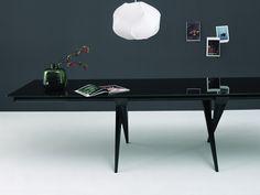 Mesa extensible de aluminio TENDER by Desalto diseño Decoma Design